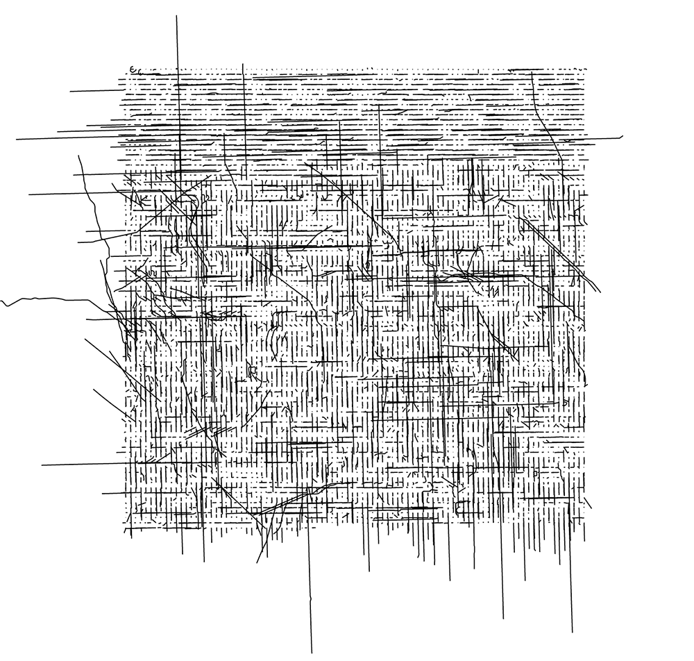 streets of Chicago (alphabetical) arranged in a grid