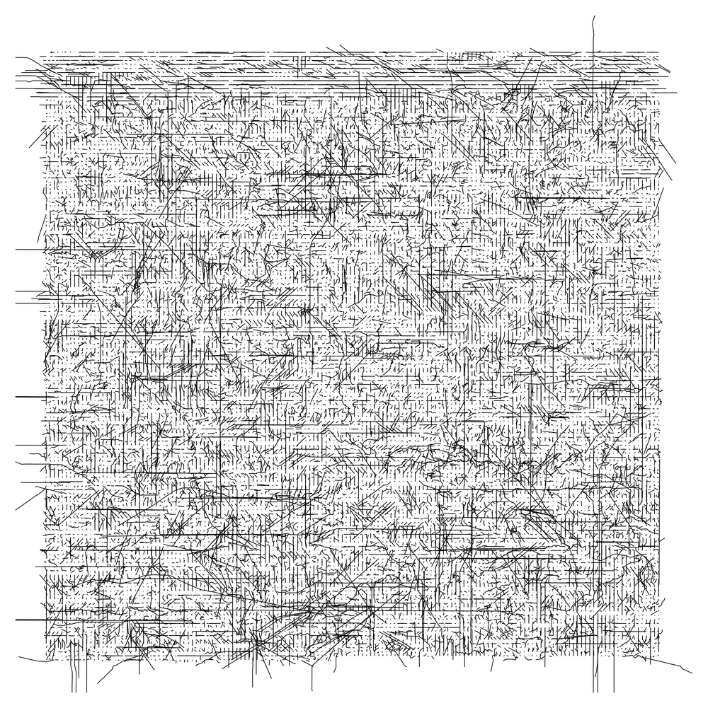streets of Los Angeles (alphabetical) arranged in a grid